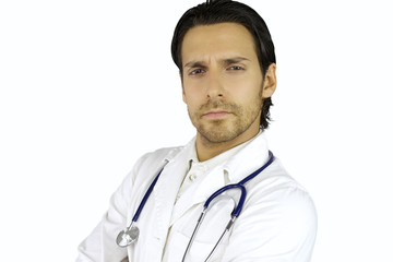 Young serious doctor