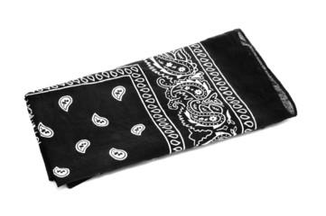 black bandana handkerchief
