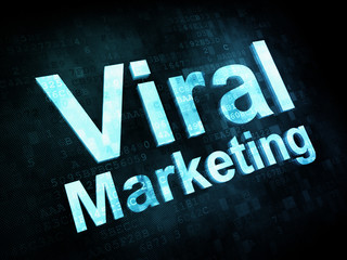 Marketing concept: pixelated words Viral Marketing on digital sc