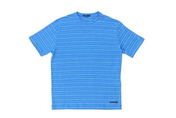 Blue t-shirt. Мужская голубая, полосатая футболка, тениска.