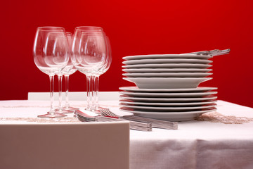 Setting table for six