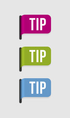Modern  label – tip