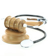 Judges gavel and stethoscope