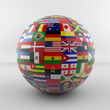 Flag Globe glossy new version