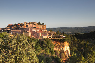 The village of Roussillon in Provence