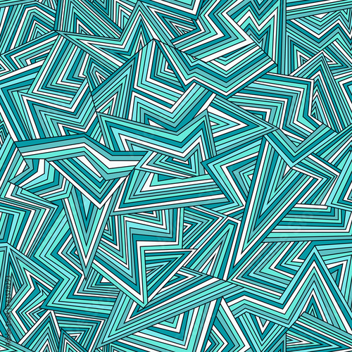 Seamless abstract background in bright blue colors