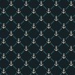 Seamless dark anchor pattern. Vector