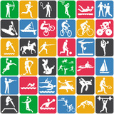 Fototapety seamless pattern with sport icons