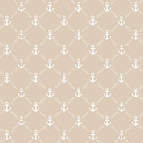Seamless beige anchor pattern. Vector
