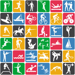 seamless pattern with sport icons