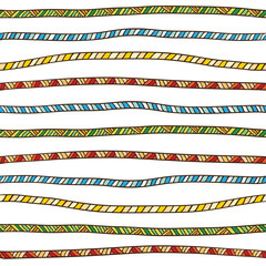 Color rope pattern