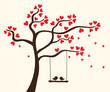 Obrazy na płótnie, fototapety, zdjęcia, fotoobrazy drukowane : Vector hearts tree