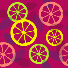 Seamless citrus pattern. Vector