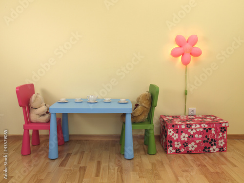 Bears in children's room