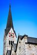 Traditional church in Hallstatt, Salzkammergut, Austria