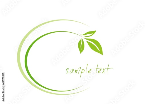 leaves ,plant , Green Eco friendly business logo design