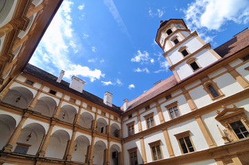 Courtyard of Eggenberg Castle in Graz