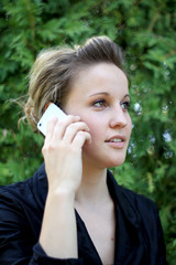 Young Attractive Businesswoman Talking On the Phone