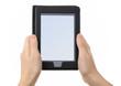 E-reader in hands.