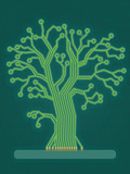 Green Circuit Board Tree