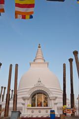 Veritical view of Thuparamaya dagoba in Anuradhapura, Sri Lanka