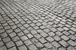 detail of cobble stone street gives a harmonic pattern