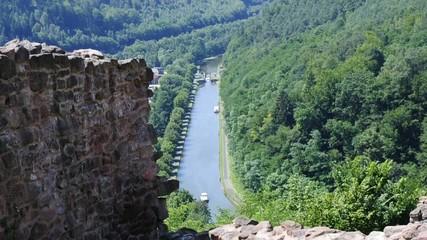 Rhein-Marne-Kanal, Elsass, Frankreich