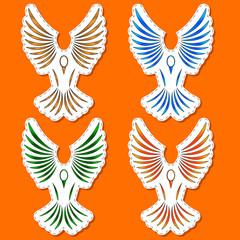 Symbols of a bird