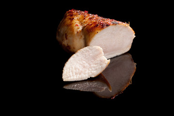 Juicy chicken breast fillet.