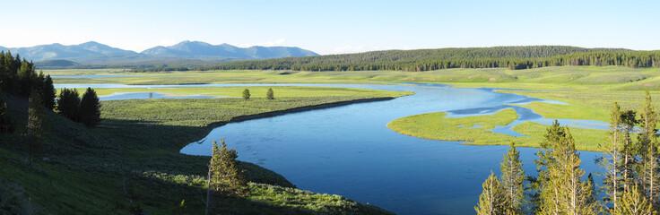 Landscape Panorama of Yellowstone National Park