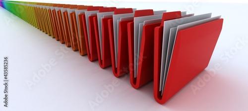 Colourful Folders