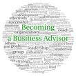 Becoming Advisor concept in word tag cloud