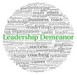 Leadership Demeanor concept in word tag cloud