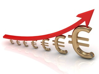 Illustration of the growth chart euros