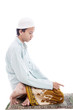 Muslim man in praying poses