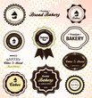 Vintage set of retro bakery badges and labels