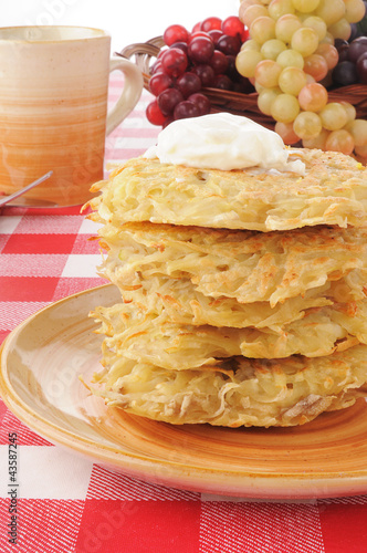 Stack of potato pancakes