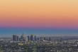 view to city of Los Angeles from Griffith park in the evening