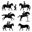 Horse Riding Training Jockey Equestrian Pictogram
