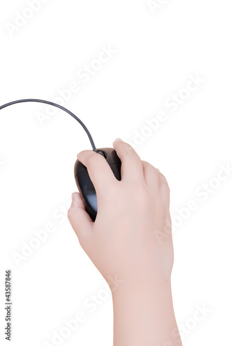 Hand click mouse isolated.