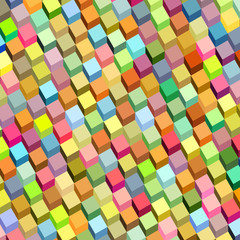 abstract cube pattern rainbow color surface backdrop