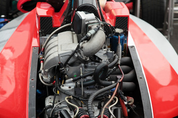 Engine of a racing race car