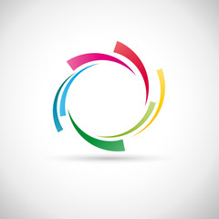 Rainbow Rings Background # Vector