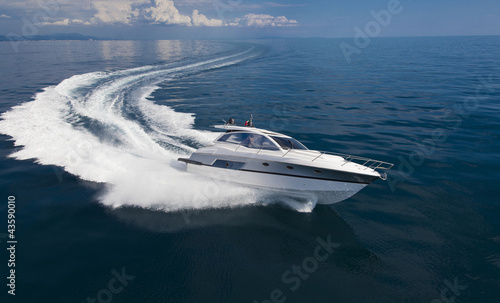 In de dag Jacht boat