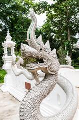 The Naga status in temple,Thailand
