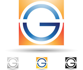 Vector illustration of abstract icons of letter G - Set 7
