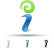 Vector illustration of abstract icons of letter I - Set 5