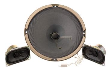 Three old loud speakers