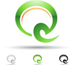Vector illustration of abstract icons of letter Q - Set 8