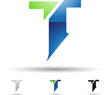 Vector illustration of abstract icons of letter T - Set 9